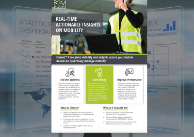 Datasheet: Elemez Core: Real-Time Actionable Insights on Mobility